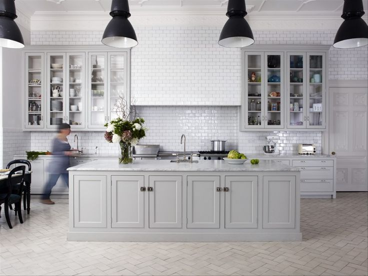White And Light Grey Kitchen the new color in kitchens | tithof tile & marble