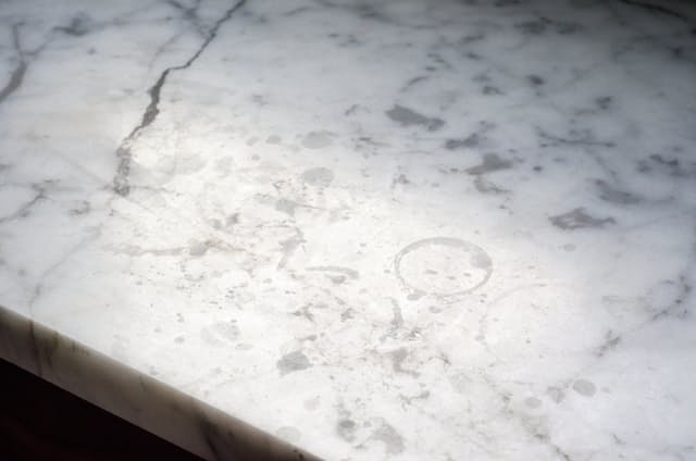 Etched marble