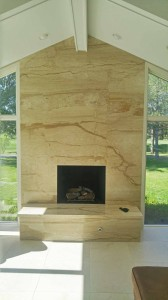 Tithof Tile & Marble custom fireplace